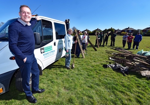 Earth Day Clean-up for Middlesbrough's Historic Arty
