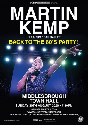 Martin Kemp's Back to the 80s Party at the Town Hall