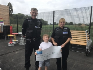 Officers raise hundreds to help local youngster